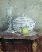 Супница и зеленое яблоко - Моризо, Берта