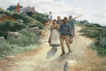 Пейзаж в Ламорне - Лэнгли, Уолтер