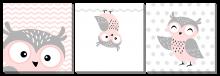 Совушки розовые