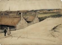 Вид на Схевенинген (View of Scheveningen), 1882 - Гог, Винсент ван