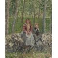 Крестьянки, сидящие под деревьями на Море, 1902 - Писсарро, Камиль