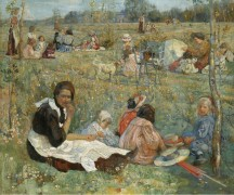 Няня с  детьми, 1912 - Бродский, Исаак Израилевич