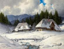 Зимний пейзаж в Черном лесу - Хауптман, Карл
