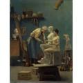 Работа с мрамором, или Скульптор и модель - Жером, Жан-Леон