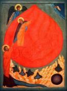 Огненное восхождение на небо пророка Илии, 16 век, 117 х 85.3 cм