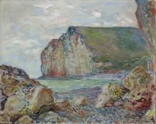 Скалы на берегу моря во время отлива - Моне, Клод