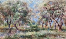 Оливковая роща близ Кани - Ренуар, Пьер Огюст