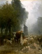Поход на рынок в туманное утро - Труайон, Констан