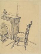 Стул возле камина (Chair by a Fireplace), 1890 - Гог, Винсент ван