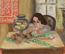 Молодая женщина с аквариумом - Матисс, Анри
