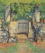 Калитка на огород в Маркероле - Мартен, Анри Жан Гийом