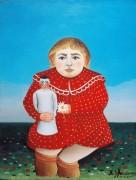 Девочка с куклой - Руссо, Анри