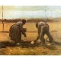 Крестьянин с крестьянкой сажают картофель - Гог, Винсент ван