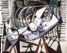 Обнаженная на фоне сада - Пикассо, Пабло