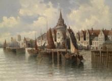 Вид на портовый город - Зиген, Август фон