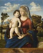 Мадонна с Младенцем на фоне пейзажа - Конельяно, Чима да