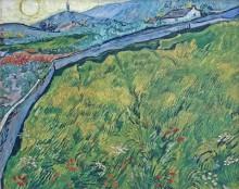 Поле яровой пшеницы на рассвете (Field of Spring Wheat at Sunrise), 1889 - Гог, Винсент ван