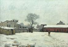 Снег во дворе поместья в Марли-Ле-Руа - Сислей, Альфред