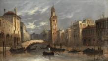 Вид на венецианский канал - Зиген, Август фон