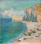 Пляж и скалы в Этрета - Моне, Клод