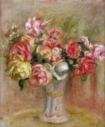 Розы в севрской вазе - Ренуар, Пьер Огюст