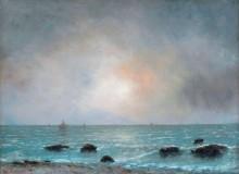 Восход солнца над морем - Курбе, Гюстав