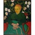 Колыбельная, портрет Августины Рулен (La Berceuse, Portrait of Madame Roulin), 1889 - Гог, Винсент ван