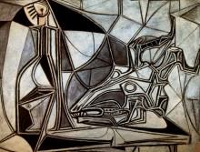 Череп козы, бутылки и свечи, 1952 - Пикассо, Пабло