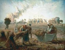 Сбор урожая гречки - Милле, Жан-Франсуа