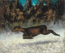Бегущий олень - Курбе, Гюстав