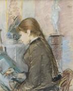 Поль Гобилар, рисование, -1886 - Моризо, Берта