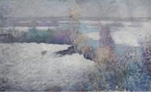 Зимний пейзаж, река, Старый Лайм, 1917 - Грейсен, Эдмунд Уильям
