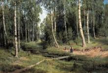 Ручей в березовом лесу, 1883 - Шишкин, Иван Иванович