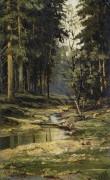 Лесной ручей - Шишкин, Иван Иванович