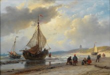 Рыбаки на берегу Схевенингена - Схельфхаут, Андреас