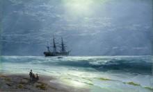 Морской пейзаж в лунном сиянии - Айвазовский, Иван Константинович