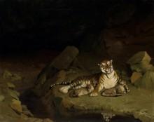 Тигрица с детенышами - Жером, Жан-Леон