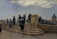 Ветреный день на мосту искусств - Беро, Жан