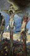 Христос и два разбойника на крестах - Моро, Гюстав