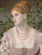 Портрет Мэри Джонс в жемчужном ожерелье - Сэндис, Энтони Фредерик Огастас