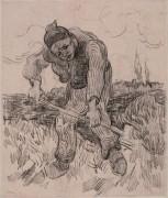 Копающий крестьянин (Peasant Digging), 1890 - Гог, Винсент ван