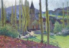 Выходя из столовой в Лабасти-дю-Вер, 1920 - Мартен, Анри Жан Гийом