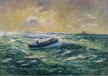 Спасательная лодка на Одьерн, Бретань - Море, Анри