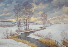 Зимний пейзаж - Хофман, К.
