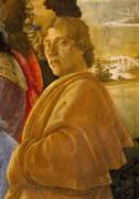 Поклонение волхвов, фрагмент - Автопортрет - Боттичелли, Сандро