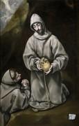 Святой Франциск и брат Лео, размышляющие о смерти - Греко, Эль