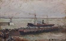 Судно, входящее в гаврский порт - Писсарро, Камиль