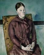 Мадам Сезанн в желтом кресле II - Сезанн, Поль