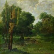 Лесной пейзаж - Курбе, Гюстав