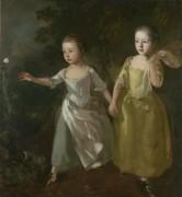 Дочери художника ловят бабочку - Гейнсборо, Томас